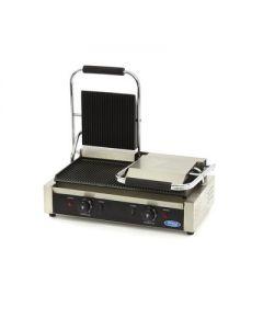 Toaster - Contact Grill striat DUBLU, termostat 0-300grC