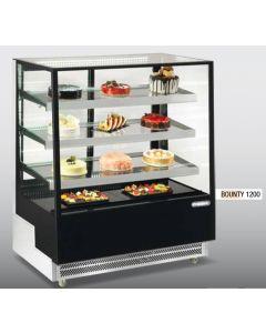 Vitrina frigorifica pentru cofetarie - patiserie, GEAM DREPT, dim. 1200x805x1445 mm