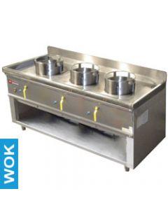 Masina de gatit wok pe gaz cu 3 arzatoare, putere 3x23,8 kw