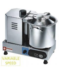 Cutter profesional 6 litri, inox, viteza variabila 1100/2600 rpm