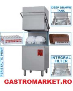Masina de spalat vase cu capota, inaltime incarcare 430 mm, 2 programe de spalare 90/150 sec