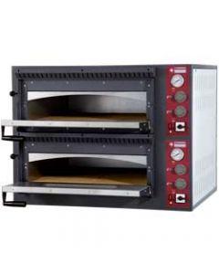 Cuptor pizza 2 camere, capacitate 6+6 pizza diam. 33 cm, dimensiuni camera 2x66x99x15 cm