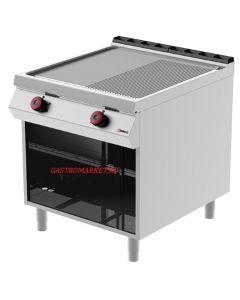 Gratar fry-top electric LINIA 900, suprafata CROMATA MIXTA 1/2 striata si 1/2 neteda