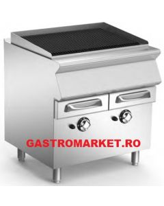 Gratar pe gaz Aqua Grill suprafata de lucru din fonta reversibila pentru carne si peste