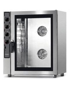 Cuptor convectie cu injectie directa de aburi PE GAZ, capacitate 10 tavi 60x40 cm sau GN 1/1,