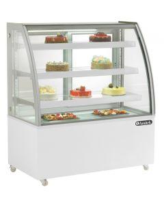 Vitrina frigorifica pentru cofetarie - patiserie, GEAM CURB, dim.1225x680x1420 mm