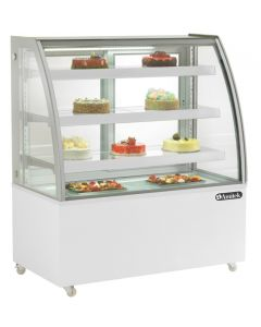 Vitrina frigorifica pentru cofetarie - patiserie, GEAM CURB, dim.925x680x1420 mm