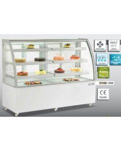 Vitrina frigorifica pentru cofetarie - patiserie, GEAM CURB, dim. 1825x680x1420 mm