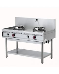 Masina de gatit wok pe gaz cu 2 arzatoare, putere 2x15 kw,