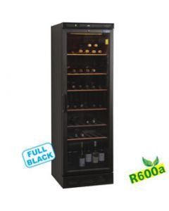 Vitrina vin refrigerata, racire ventilata, capacitate 380 lt, neagra