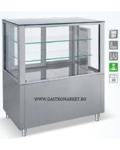Vitrina refrigerata cofetarie patiserie, dimensiuni 138x70x120 cm,