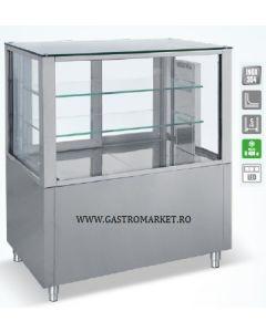 Vitrina calda cofetarie patiserie, dimensiuni 108x70x120 cm,
